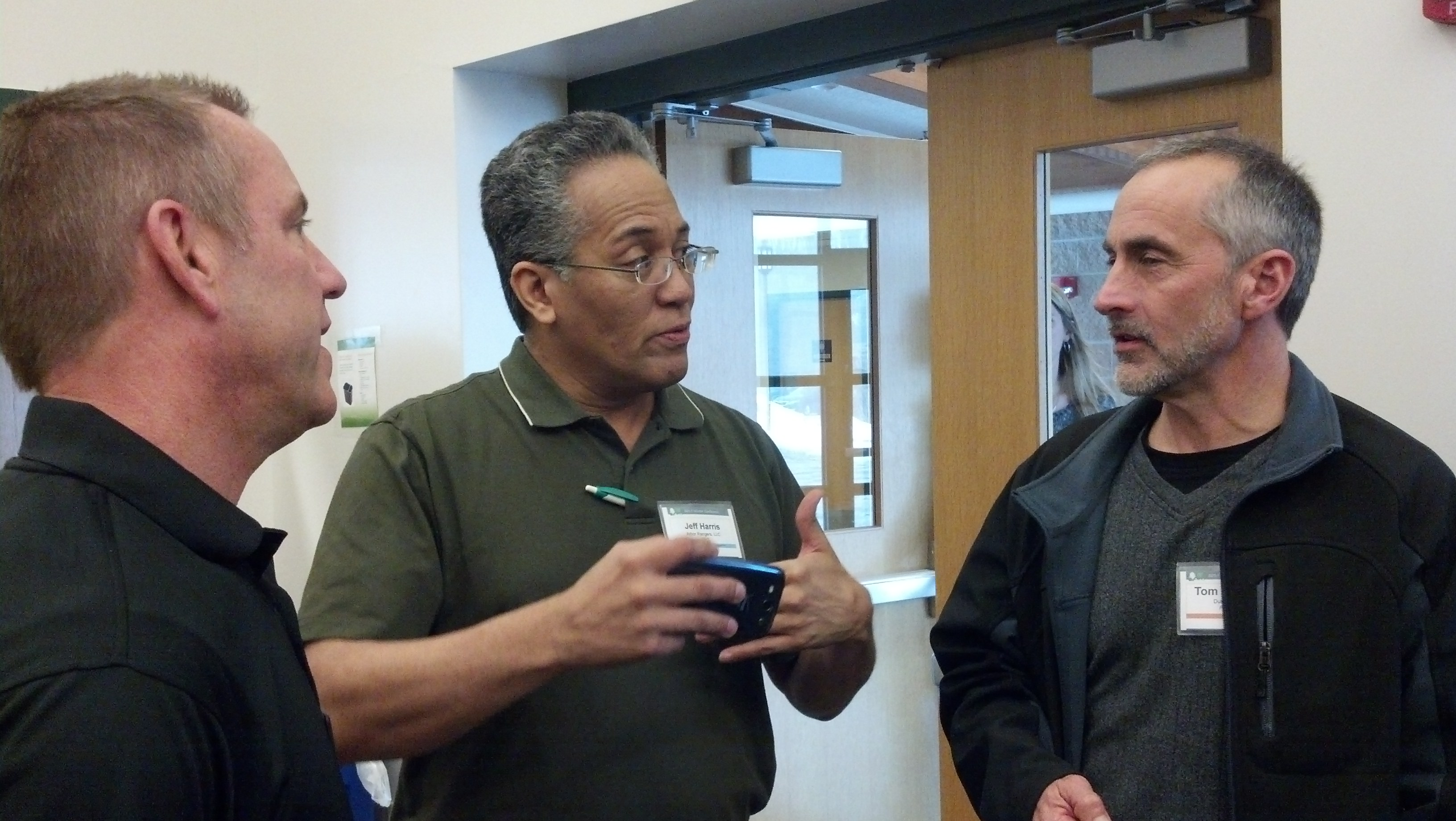 Lindsey, Jeff, and Tom chat at 2014 IUFC Winter Conference