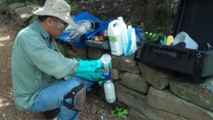 Jeff prepares tree I.V.