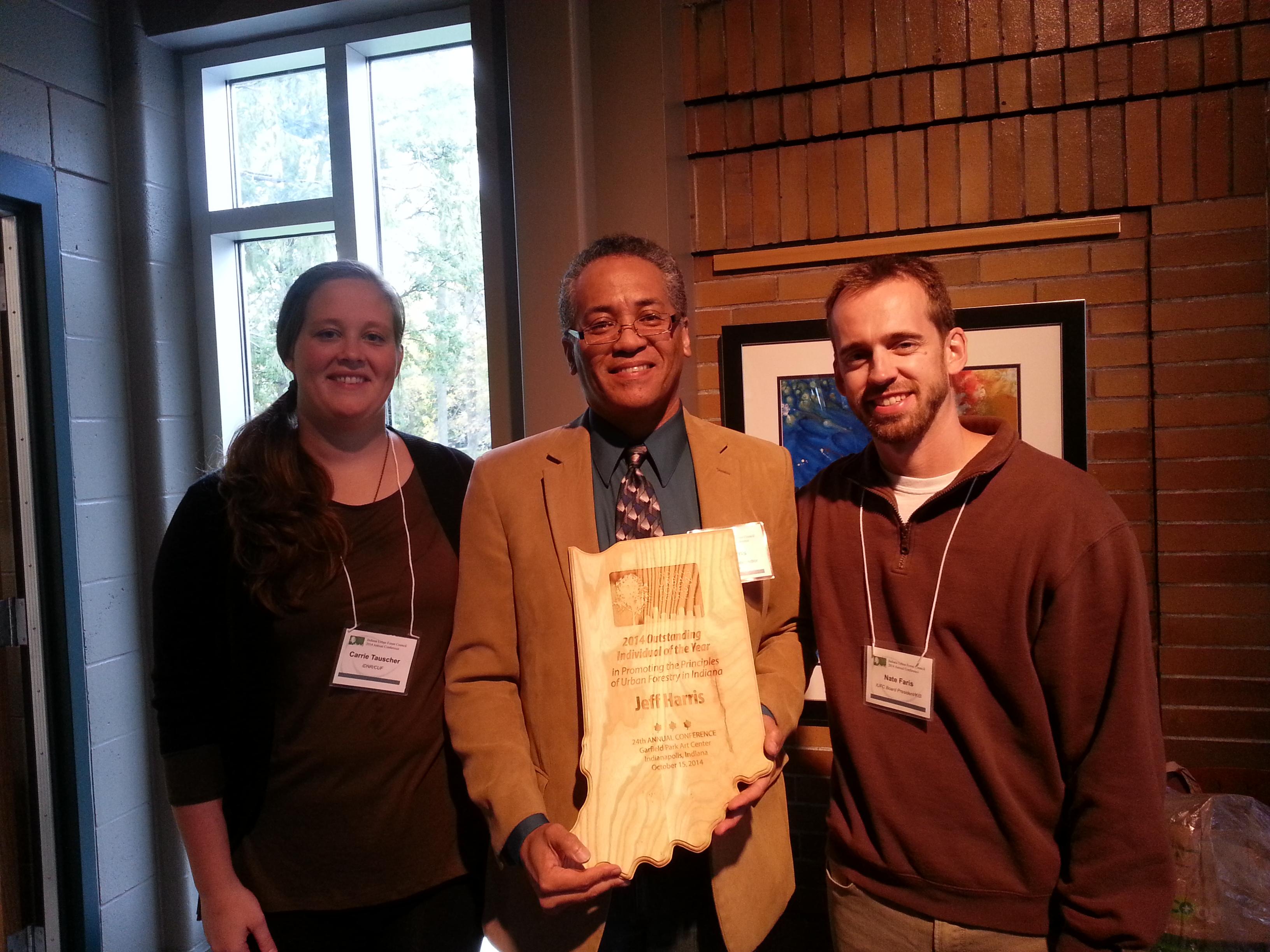 Jeff Harris Receives an Award