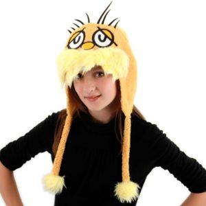 Girl model wearing Lorax hoodie