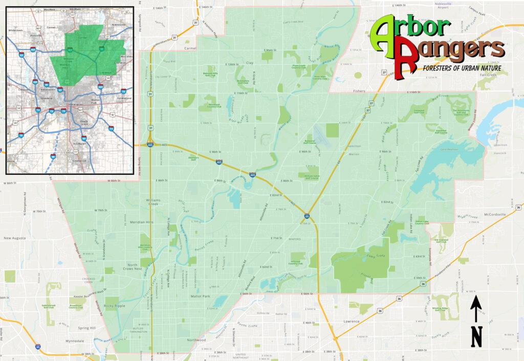 Arbor Rangers, LLC Service Area